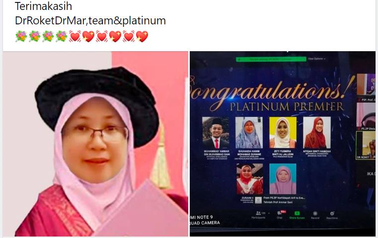 Bergelar Platinum Setelah Sertai NUT, Berjaya Semarakkan Semangat Pengajian Pensyarah Ini!